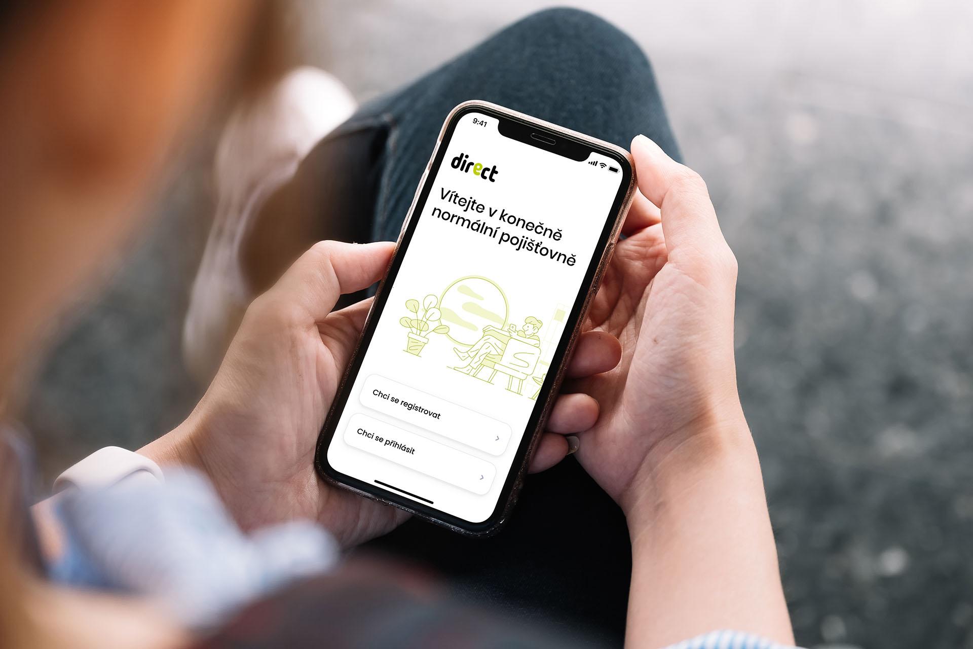 Díky aplikaci Direct budete mít pojištění vždy po ruce